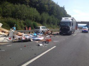 Schwerer Verkehrsunfall auf der A 7