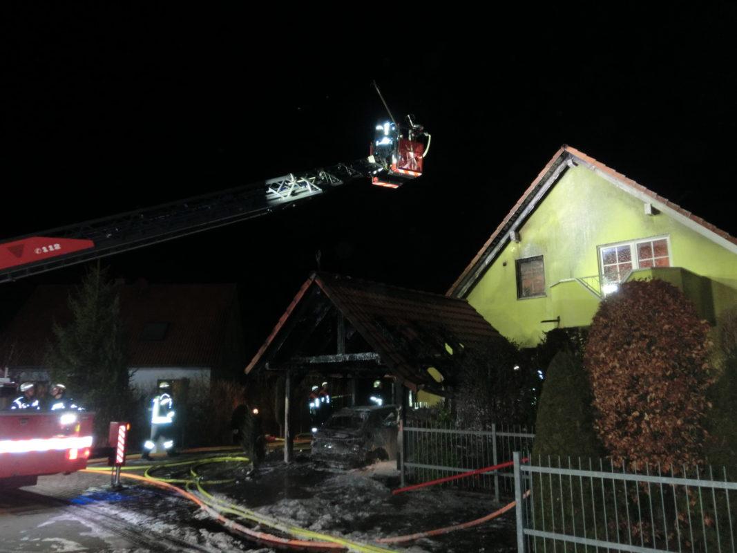 Nachalarmierung der Drehleiter am 11.02.2019 nach Oerlenbach