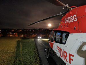 Hubschrauberlandung am 20.02.2019 in der Au