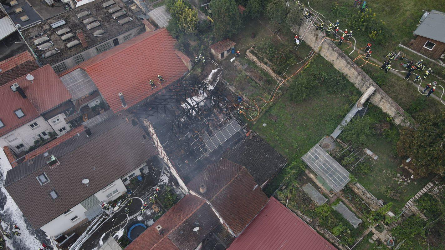 1. Einsatz der Feuerwehr-Drohne Bad Kissingen
