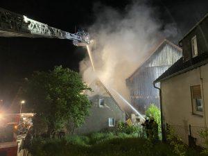 Wohnhausbrand am 23.05.2021 in Burkardroth/Wollbach